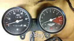 1971-1977 Suzuki TS185 TS 185 Gauge Cluster Speedometer Tachometer RPM Gauges