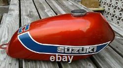 1973 Suzuki Tc100 Ts100 Ruby Red Factory Gas/fuel Tank #41100-25400-712