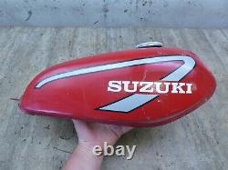 1974 Suzuki TS100 Honcho Enduro S141-1 red gas fuel petrol tank with cap CLEAN