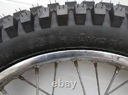 1974 Suzuki TS185 TS 185 Rear Wheel Hub Spoke Fresh Shinko Tire