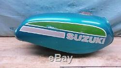 1975-76 Suzuki TS100 Dual Sport Gas Fuel Tank Cell PL214+