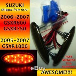 2008 Suzuki GSXR 600 Smoke Flush Mount LED Front L/R Turn Signals 1 Pair TS09S