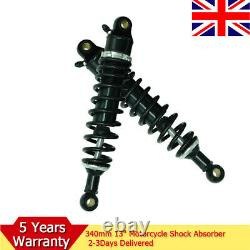 2pcs 340mm Motorcycle Rear Air Shock Absorber Suspension Scoote For Suzuki Honda