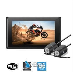 3.0'' Wifi Real 1080P FHD Dual Lens Motorcycles DVR Video Recorder GPS G-Sensor