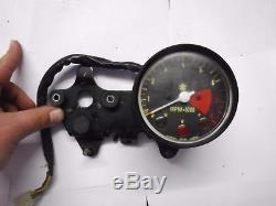 73-77 Suzuki TS400 TS 400 Tach Tachometer Meter Gauge Speedo Bracket