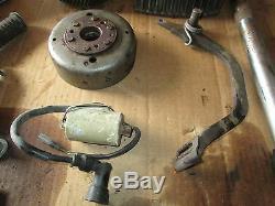 75 Suzuki TS185 Crankcases Cylinder Clutch Shocks Flywheel Stator Etc Parts Lot