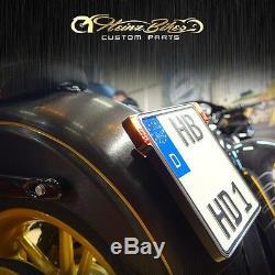 All-In-One Kennzeichenhalter mit 3in1 LED Blinker für Suzuki Yamaha KTM, schwarz