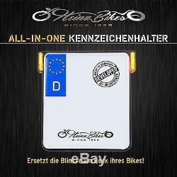 HeinzBikes All-in-One Kennzeichenhalter mit Blinker für Suzuki Kawasaki Honda