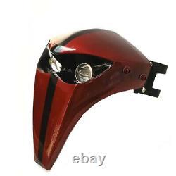 High Quality LED Headlight Fairing Skeleton Skull Universal Motor With 43mm-46mm