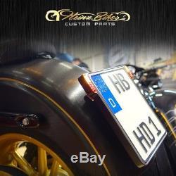 Kennzeichenhalter 3in1 +LED Blinker&Kennzeichenbeleuchtung Suzuki Kawasaki Honda