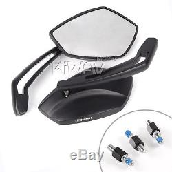 KiWAV Palm mirrors black CNC Emark M8 for Suzuki A50 AC50 TS90 125 UK STOCK