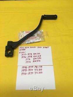 NEW OEM SUZUKI Kicker, Kick Start Lever, RM 100,125,250,370, PE175, TS100, TC AHRMA