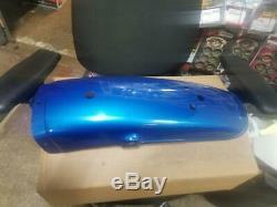 NOS 1973 Suzuki TS400K Rear Fender Coronado Blue