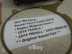 NOS 1974-1975 Suzuki TM-250 New Original Engine Magneto Cover 1976 TS-250-A