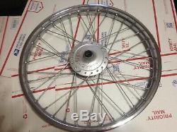 NOS suzuki ts185 ds185 ts front wheel ts250 250 21 rim spokes 1975 1974 1973