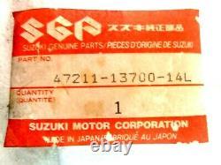 Nos Genuine Suzuki TS 50 TS50 COVER, FRAME, L (WHITE) 47211-13700-14L