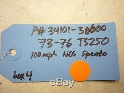 Nos New Suzuki 73-76 Ts250 Ts 250 Speedo Speedometer Gauge Oem 34101-30600