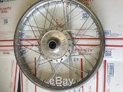 Nos suzuki 18 inch front wheel 54100 12610 ts rim hub spokes