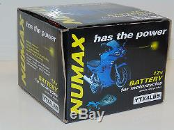 Numax YTX4LBS Battery Suzuki 50cc Tune50, TS 50, X, XA, XK, UZ50X, X5, ZILION