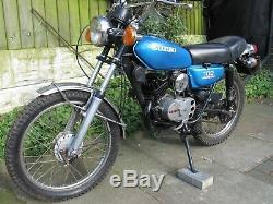 Parts bike. 1974 Suzuki ts100. A very rare barn find