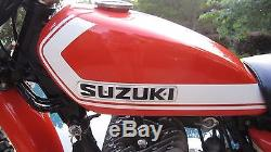 STRIP ORANGE Custom Mix Paint for Suzuki Motorcycles- PINT TS250 Savage