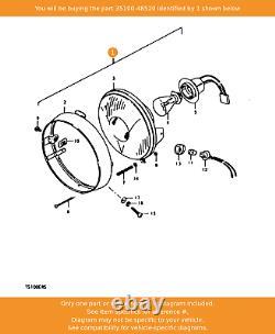 SUZUKI Headlamp Assy, 35100-48520 OEM