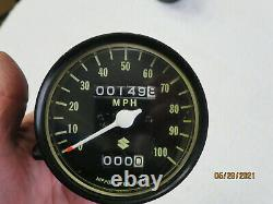 SUZUKI TS125 TS185 Speedometer Operation Verified VERY LOW MILEAGE