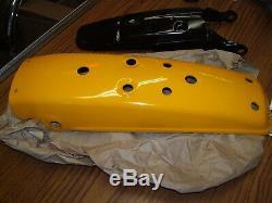 Suzuki 73-74 TS100 72 TS90 NOS Rear Fender & Inner Fender Set Desert Yellow OEM