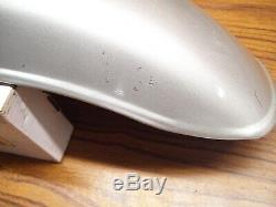 Suzuki 74-76 TC125 TS125 TS185 NOS Rear Fender Stardust Silver Metallic OEM