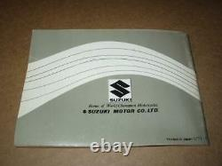Suzuki Nos Original Owners Manual Ts250r 1971