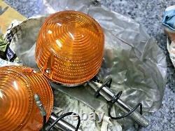 Suzuki T20 T250 T350 T500 TS100 TS125 TS185 TS250 Turn Signal Winker Lamp NOS x3