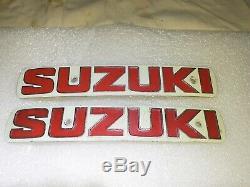 Suzuki T500 T350 T250 TS400 TS250 tank Badges