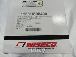 Suzuki TM400 TS400 NEW 4TH over piston and ring set 1971-1977 (2.0) Wiseco 84.0