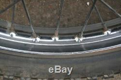 Suzuki TS 100 125 front and rear wheels and brakes plates shoes