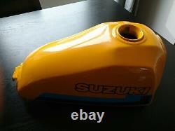 Suzuki TS 125er. Tank and bodywork. Fuel tap. Tank cap