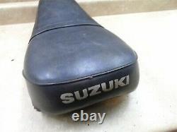 Suzuki TS TS185 TS250 TS125 OEM Original Used Seat 1970s 1974 1973 WD-365