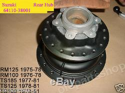 Suzuki TS100 TS125 TS185 RM100 RM125 Rear Wheel Hub 1970's NOS 64110-38001