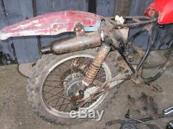 Suzuki TS125 ER Rolling Chassis Engine in Bits Exhaust Spares Repair Colchester