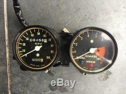 Suzuki TS250 K L M Clocks Speedo Tacho rev counter with Bracket