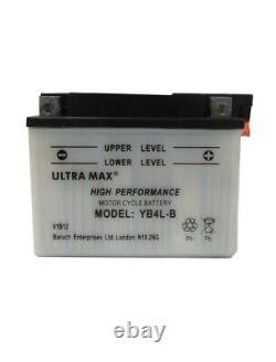 Ultramax YB4L-B YB4LB Motorcycle Battery Suzuki TS50XK