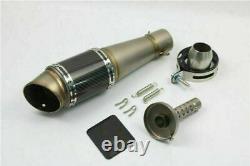Universal 51mm Bevel Carbon Fiber Motorcycle Exhaust Muffler Pipe Tip Silencer