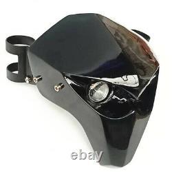 Universal Motor Skeleton Skull LED Headlight Fairing For Harley Police FLHTP 17