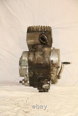 Vintage 1974 Suzuki TS125 complete engine assembly