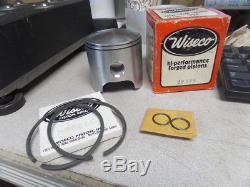 Wiseco 4th O/S Piston with Rings & Clips Suzuki TM400 Cyclone TS400 Apache 299P4
