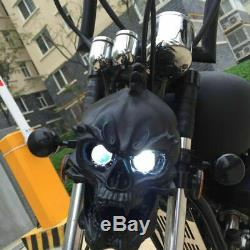 1 Pc Led Universel Crâne Head Light Lampe Phare Pour Harley Simple 24,74 1903