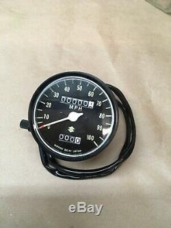 1971 72 73 74 75 76 Suzuki Ts250 Tachymètre Oem Nos 34100-30621