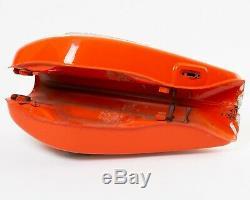 1972 Suzuki Ts250 Orange Réservoir De Carburant Essence Vintage Ts Peinture Originale Rayure Blanche