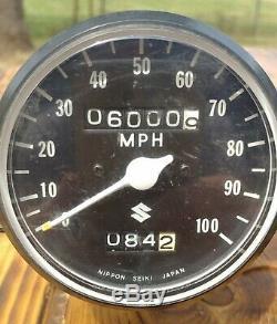 71 72 73 74 75 76 Ensemble Compteur De Vitesse Tachymètre Suzuki Ts 250 Tc / Ts 400 Avec Câbles