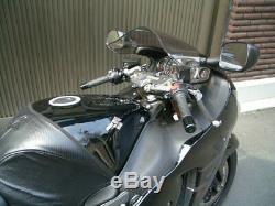 Helibars Tracstar Guidon Risers Pour Suzuki Hayabusa Gsx1300r 1999-2007 Ts370