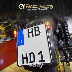 Kennzeichenhalter 3in1 + Led Clignotant Et Kennzeichenbeleuchtung Suzuki Kawasaki Honda